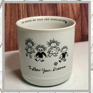 "Vntg ""Follow Your Dreams"" Candle Holder"